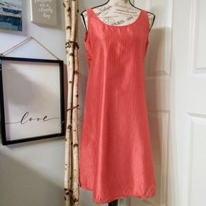 Eileen Fisher sheeth sleeveless silk dress